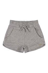 Shorts Infantil Menina em Moletom com Cordão Basics