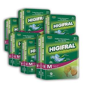 Fralda Geriátrica Higifral Noite e Dia M (Kit com 54 unidades)