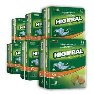 Fralda Geriátrica Higifral Noite e Dia G (Kit com 48 unidades)