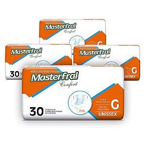 Fralda Geriátrica Masterfral Confort Mega G (Kit com 120 unidades)