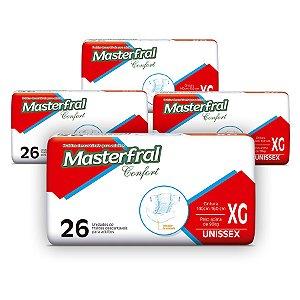 Fralda Geriátrica Masterfral Confort Mega XG (Kit com 104 unidades)