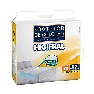 Protetor de Colchão Descartável Higifral 5 Unidades