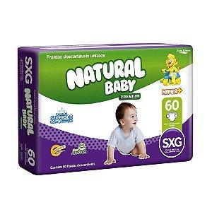 Fralda Infantil Natural Baby Premium Hiper SXG 60 Unidades