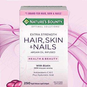 HAIR, SKIN & NAILS NATURE'S BOUNTY COM 250 CAPS- CABELOS, PELE E UNHAS-PRODUTO IMPORTADO DOS ESTADOS UNIDOS A PRONTA ENTREGA NO BRASIL