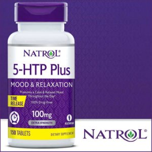 5-HTP NATROL 100MG COM 150 TABLETS A PRONTA ENTREGA NO BRASIL -SEGREDOS MILAGROSOS DO 5-HTP