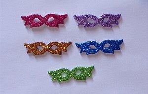 Adesivos E.V.A Glitter - Máscara de Carnaval - 10 unids