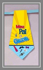 Gravatas em tecido PAI (18nv20)- Tam. P e M - pct 10 unids