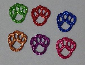 Adesivos E.V.A Glitter Patinhas - 10 unids