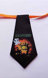 Gravatas em tecido com tema Halloween (Tam. P e M) - pct 10 unids