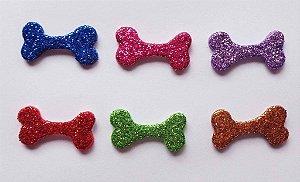Adesivos E.V.A Glitter Ossinho - 10 unids