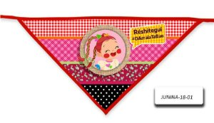 Kit 10 Bandanas - Junina- BLP- 18-01