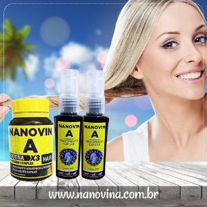 Nanovin A - Complexo Vitamínico + 2 Tônicos Cavalo de Ouro