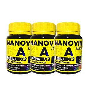 Nanovin A - Complexo Vitaminico - 3 Frascos