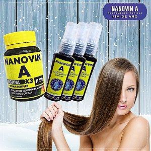 Nanovin A - Complexo Vitaminico + 3 Tônicos Cavalo de Ouro