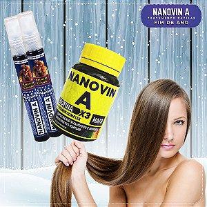 Nanovin A - Complexo Vitamínico + 2 Tônico Krina de Cavalo