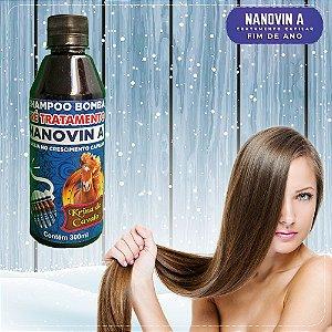 Shampoo Pré Tratamento Bomba - Nanovin A  - Krina de Cavalo - 300ml