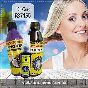 Kit Ouro (Shampoo + Condicionador + Tônico Cavalo de Ouro)