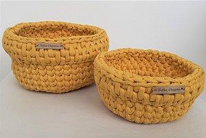 Kit cachepos amarelos C25