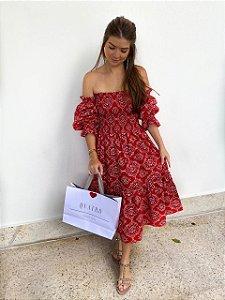 Vestido Bandana Vermelho