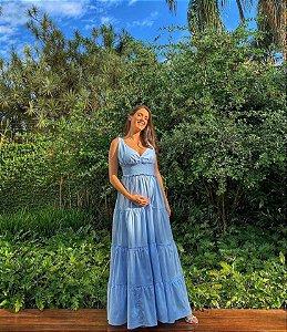 Vestido Mariana Azul Claro