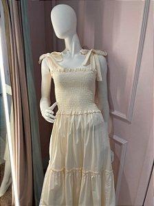 Vestido Valentina Creme