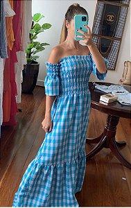 Vestido Andressa Vichy Azul
