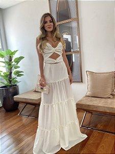 Vestido Mah Off White