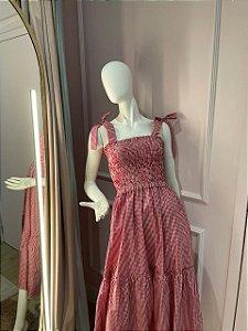 Vestido Valentina Vichy Vermelho