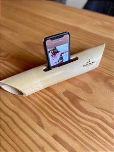 Amplificador de som natural feito de bambu