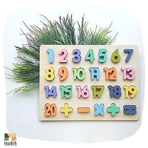 Encaixe Divertido Letras e Números