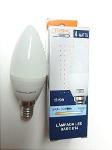 LAMPADA LED VELA 4W 6500K E-14