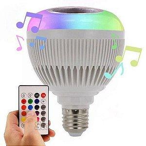 Lâmpada LED Bulbo Música 12W Bluetooth