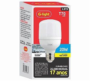 Lâmpada LED Bulbo 20W 6500K G-Light