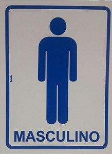 Placa Sinalização 15 X 20 Sanitário Masculino