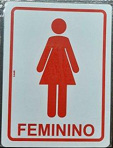 PLACA SINALIZACAO 15 X 20 SANITARIO FEMININO