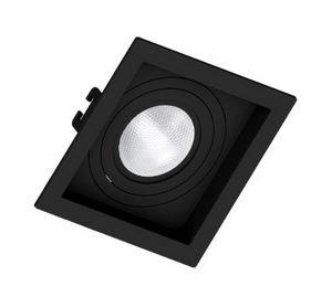 Spot Embutir PAR 30 Quadrado Recuado Preto