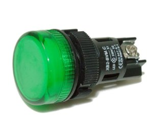 Botão Sinaleiro LED 220V Verde