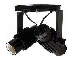 SPOT ALETADO 2 LAMPADA PRETO