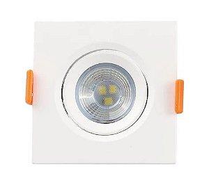Mini Spot LED 3W 3000K Quadrado