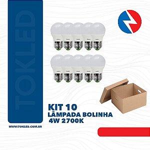 Kit 10 Lâmpadas Bolinha 4W