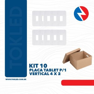 Kit 10 Placas P/1 Vertical 4 X 2 Tablet Tramontina
