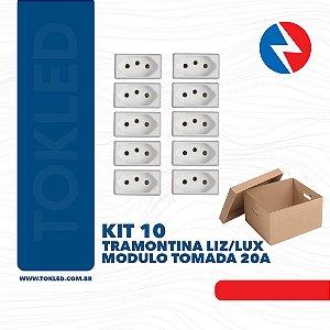 Kit 10 Módulos Tomada 20A Liz/Lux Tramontina