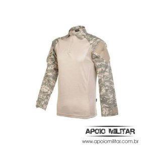 Camisa Combat Shirt Raglan Fox Boy Caqui Digital Deserto