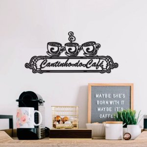 Placa Cantinho do Café Xícaras