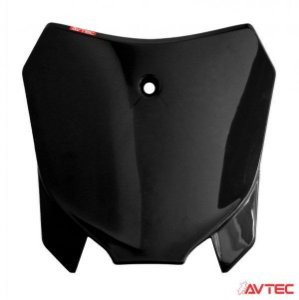 NUMBER PLATE FRONTAL AVTEC CRF 230 PRETO