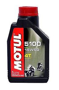 ÓLEO MOTUL 5100 15W50 1 LITRO 4 TEMPOS