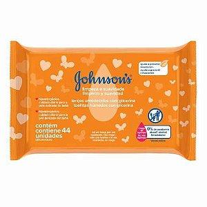Lenços Umedecidos Limpeza Suave Johnson's 44un
