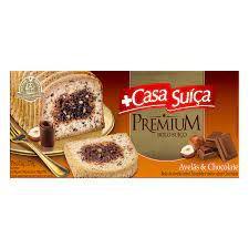Bolo Casa Suíça Premium Avelã C/Chocolate 270g