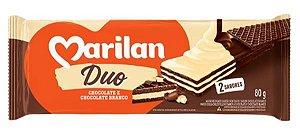 Biscoito Marilan Wafer Duo Chocolate Branco 80g