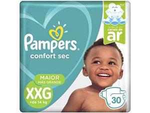 Fralda Pampers Confort Sec Tam XXG (mais de 14 Kg) 30 Fraldas